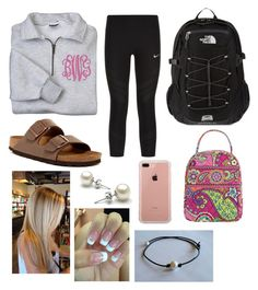 """""""Untitled #36"""" by kaitlyn-wilson35 on Polyvore featuring NIKE, Birkenstock, The North Face, Vera Bradley and Belkin"""