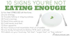 Not eating enough- a slow metabolism trigger