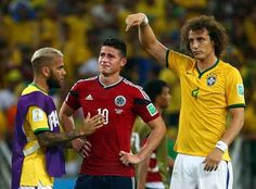 It was Brazil's David Luiz urging the crowd to acknowledge Colombia's James Rodriguez for a stellar World Cup performance.