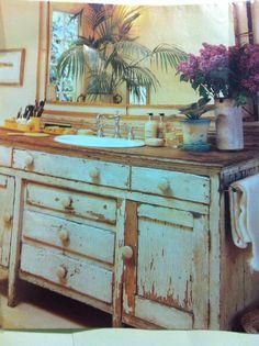 Vintage Dresser Turned Sink