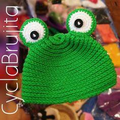 Frog crochet hat <3 @cyclabrujita   #crocheted #crochetlove #crocheting #crochethat #crochet