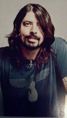 from Nirvana to Foo Fighters...he's just sexy in that grungy bad boy way :)