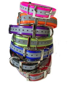 SparkyPetCo 3/4' Square Buckle High Flex Reflective Dog Strap For Garmin Dogtra Petsafe Sportdog E Collar, Reflective Purple *** Details can be found by clicking on the image. (This is an affiliate link and I receive a commission for the sales) #MyDog