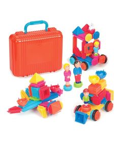 Buy Bristle Block: Big Value Case at Mighty Ape NZ. Bristle Block: Big Value Case – Loads of endless play value 85 piece Bristle Blocks Construction set with family and animal figurines. Preschool Block Area, Shops, Activities To Do, Travel With Kids, Kids Playing, Little Ones, Playroom, Kids Toys, Toddler Girl