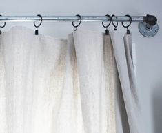 DIY Dropcloth Curtain: A Five-Minute, No Sew Drop Cloth Curtain via Thoughts from Alice.