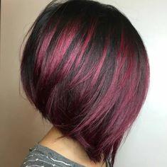 Layered Bob Hairstyles, Hairstyles Haircuts, Cool Hairstyles, Wedding Hairstyles, Hairstyle Ideas, Black Hairstyles, Asian Hairstyles, Girl Haircuts, Red Hair Color