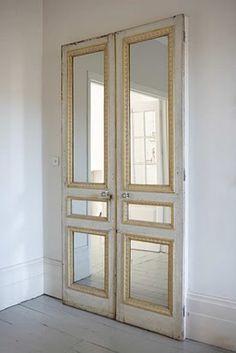 mirror paneled door