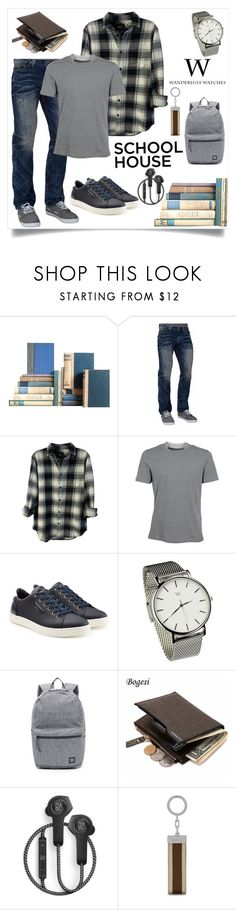 """""""Men's School House"""" by freida-adams ❤ liked on Polyvore featuring Affliction, Rails, Brunello Cucinelli, Dolce&Gabbana, Shoreditch, Herschel Supply Co., B&O Play, Mulberry, men's fashion and menswear"""