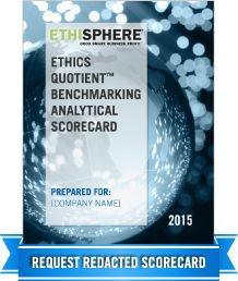 World's Most Ethical Companies – Honorees | Ethisphere® Institute.  Companies are scored on their ethics and compliance program, their corporate citizenship and resonsibility, their culture of ethics and their governance and their leadership, innovation and reputation to determine if they make the list.  (9417)