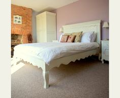 perfect vintage style shabby chic bed for a romantic boudoir