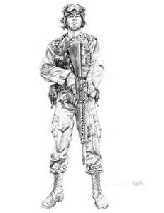 Female Army Soldier Drawing - Bing Images