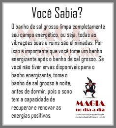 Magia no Dia a Dia: Banho de Sal Grosso Pagan Witch, Wiccan, Witchcraft, Witches, Reiki, Tarot Astrology, I Ching, Book Of Shadows, Good Vibes