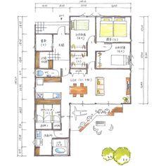 . 【ボツプラン128】 外観やけど、この白い外壁に木の色目でいくなら、もう少し茶色の面積が多く見えるようにするか、寄棟にして軒の出を900〜1200mmにするのもいいんやないかな。 . 間取りは、畳コーナーとキッチンスペース入れ替えても面白いかも。 . . #collabohouse #コラボハウス #間取り #間取り図 #設計図 #設計士 #設計士とつくる家 #住宅 #住宅設計 #自由設計 #住宅間取り #住宅外観 #住宅デザイン #デザイン住宅 #注文住宅 #新築 #新築一戸建て #家づくり #myhome #マイホーム #平屋 #ボツプラン