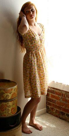 Parisienne - spraypaint silk dress by Modaspia.