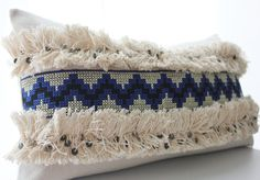 Moroccan Wedding Blanket Pillow Cover Handira Pillow by BohoPillow