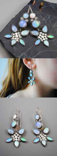 New Flower Opal Earrings by Dana Evans.