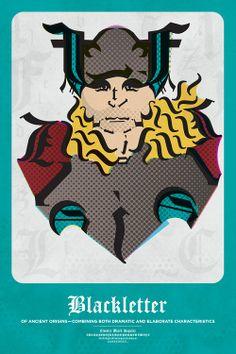Typography And Their Superhero Representations - DesignTAXI.com