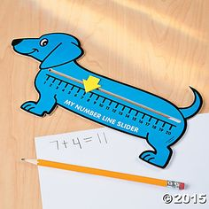Include man's best friend in your classroom supplies with these Wiener Dog Number Line Sliders! A fun way for your students to practice their counting, . Measurement Activities, Preschool Activities, Math Classroom, Kindergarten Math, Math Place Value, Place Values, Line Math, Touch Math, Math Graphic Organizers