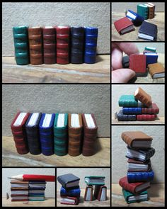 Books :) these would be cute to make from polymer...