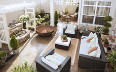 A bird's eye view of your private, outdoor courtyard! www.epconcommunities.com