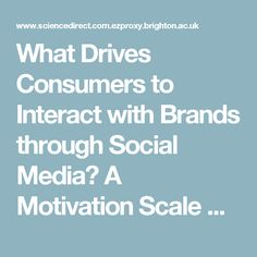 What Drives Consumers to Interact with Brands through Social Media? A Motivation Scale Development Study