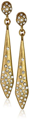 Kenneth Cole New York Pave Gold Stick Linear Drop Earrings ** Visit the image link more details.