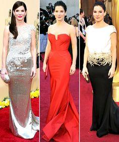 Sandra Bullock's different #Oscars red carpet looks