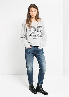 Sweatshirt lamia - Ζακέτες και πουλόβερ for Γυναίκα | MANGO