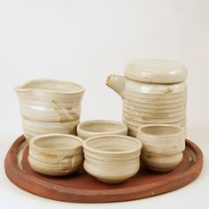 Teapot, Gaiwan, and 4 cups - tea serving set
