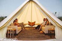 5M/16.4ft Bell Tent Cotton Dyed Fabric Waterproof  Glamping Pyramid Safari Tent