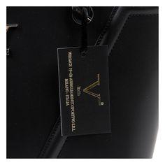 5b47b37946a V 1969 Italia Womens Handbag V008-S RUGA NERO from L C Boutique