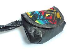 Southwestern  Clutch Wristlet Vegan Leather bag. $23.00, via Etsy.