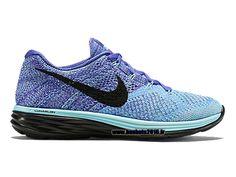 Nike Flyknit Lunar Chaussures Nike Officiel Pour Femme Purple - Bleu - Noir 698182-402