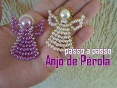 How to make christmas angel ornaments Christmas beautiful Angel Religious Ornaments to symbolically decorate your Holiday Tree. angel ornaments make great christm. navod na anjelika s koralok Christmas Angel Ornaments, Beaded Ornaments, Beading Projects, Beading Tutorials, Angel Crafts, Christmas Crafts, Beaded Angels, How To Make Ornaments, Bead Art