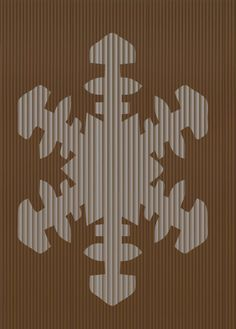 Cut And Fold Book folding pattern of Snowflake by BookArtCo