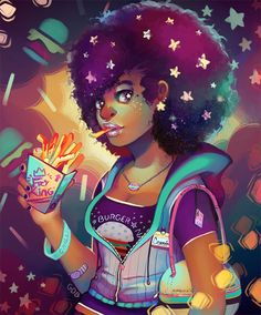 Starry eyes and french fries by GDBee on DeviantArt