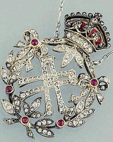 Necklace of Queen Alexandra Russian Cloisonne Faberge Art /Russian Art : More At FOSTERGINGER @ Pinterest