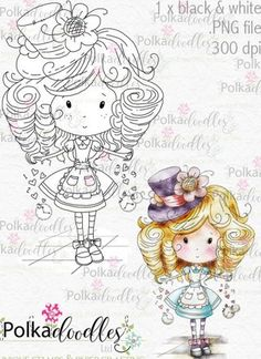 Winnie in Wonderland Alice Through the Looking Glass Digital Stamp printables perfect for digital cards, digi scrap kit, digital scrapbooking, cardmaking hybrid crafting Whimsy Stamps, Digi Stamps, Doodles, Butterfly Template, Copics, Colouring Pages, Adult Coloring, Alice In Wonderland, Art For Kids
