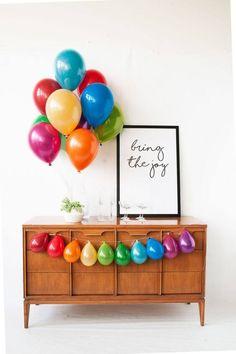 Mini Balloons, Rainbow Balloons, Birthday Balloons, Foil Balloons, Rainbow Birthday Party, First Birthday Parties, First Birthdays, Rainbow Parties, Birthday Month