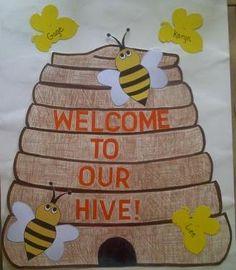 Bee+Bulletin+Boards | Crafts For Preschoolers: Bee Hive Door Idea