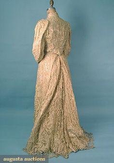 Battenburg Lace Tea Gown, C. 1905, Augusta Auctions, March/April 2005 Vintage Clothing & Textile Auction, Lot 498