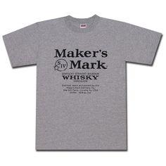 Maker's Mark Grey Logo T Shirt. Official from Maker's Mark!