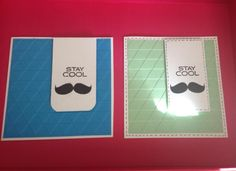 Stay Cool Mustache Card by CardsByWellies on Etsy, $4.00