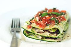 Zucchini 'Lasagna' - Raw Food Recipe