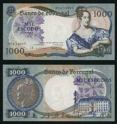 1967 Portugal 1000 Escudos A Beautiful Extremely Fine Banknote Pick Number Money Template, Passport Card, Money Notes, Old Coins, Retro Futurism, Graffiti, Beautiful, Queen, Dark Brown