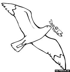 100 Free Bird Coloring Pages Color In This Picture Of A Flying Seagull And