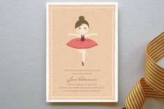 Diary of Jane Children's Birthday Party Invitations by Dreaming Inspirations at minted.com