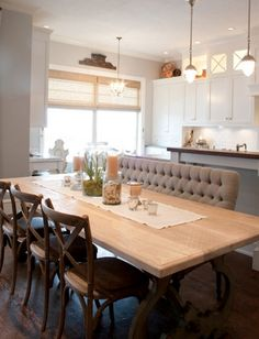 omg do we need a kitchen/dining room like this or what! <3