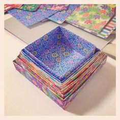 だんだん大きくなるようにしてみた。#origami - @chinhako- #webstagram