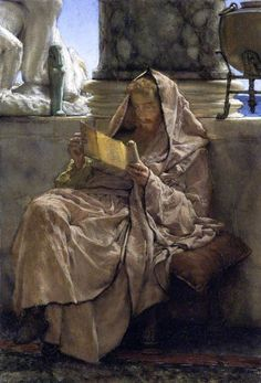 Lawrence Alma-Tadema  Prose, 1879    https://farm8.staticflickr.com/7350/8724451582_613ef2476e_b.jpg